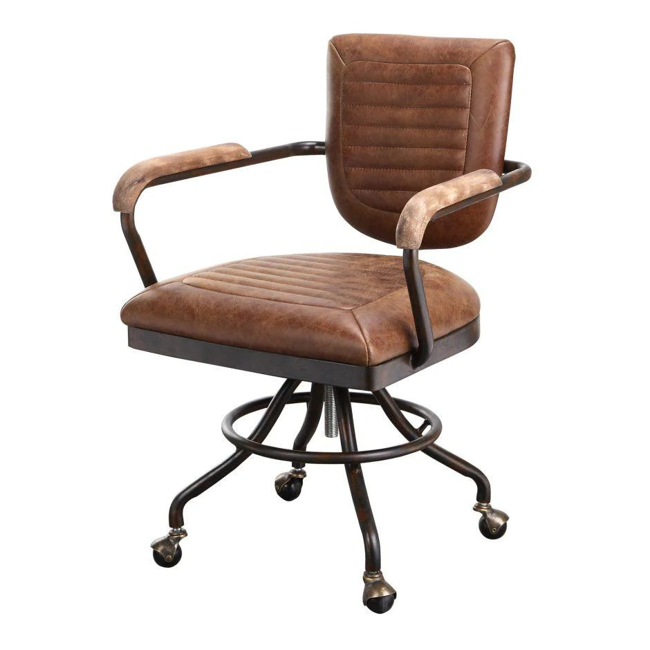 Tufted Leather Office Chair Foster Desk Chair