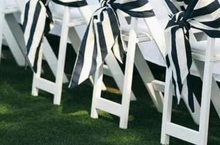 white chair sashes swivel on hardwood floor satin tableclothsfactory com striped