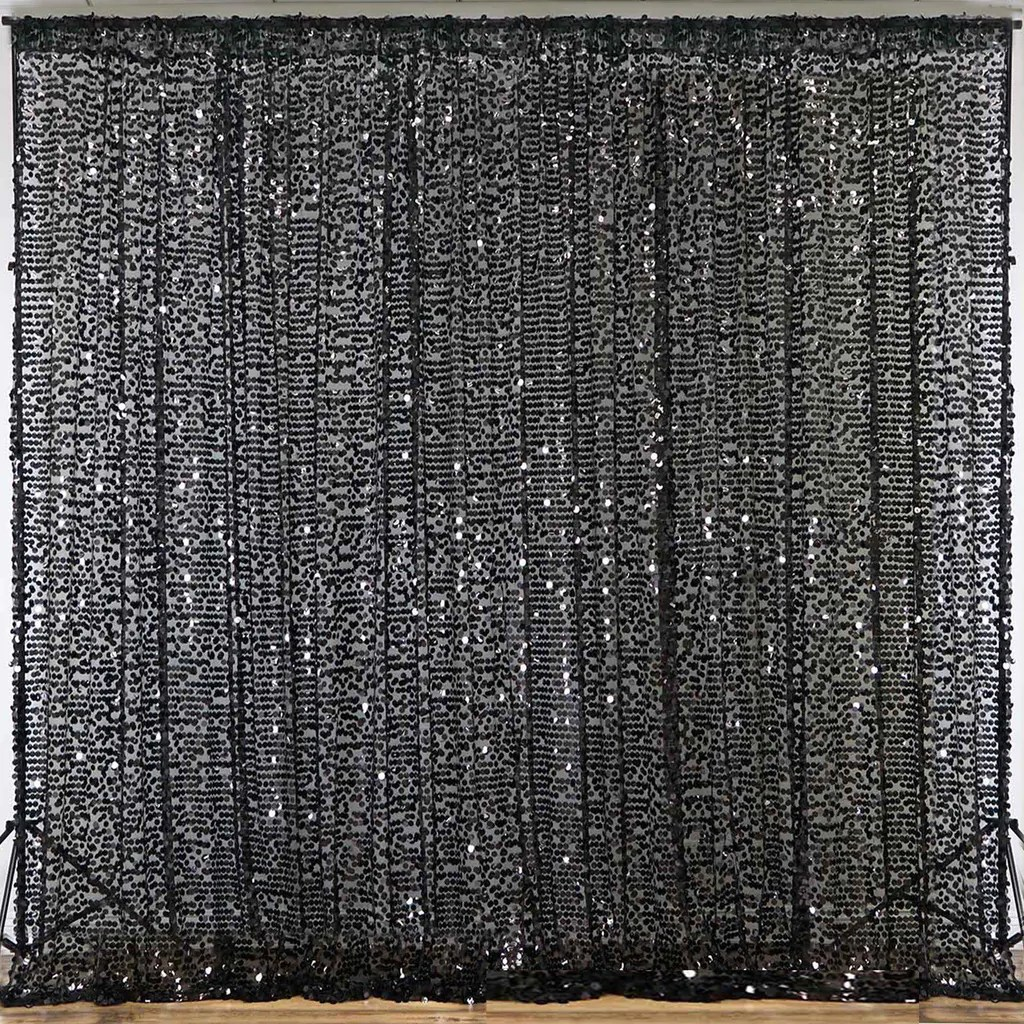 folding chair sashes hanging montreal 20ft black big payette sequin curtain panel backdrop wedding party photography background - 1 ...