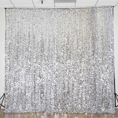 Chair Caps Covers Revolving Hsn Number 20ft Silver Big Payette Sequin Curtain Panel Backdrop Wedding Party Photography Background - 1 ...