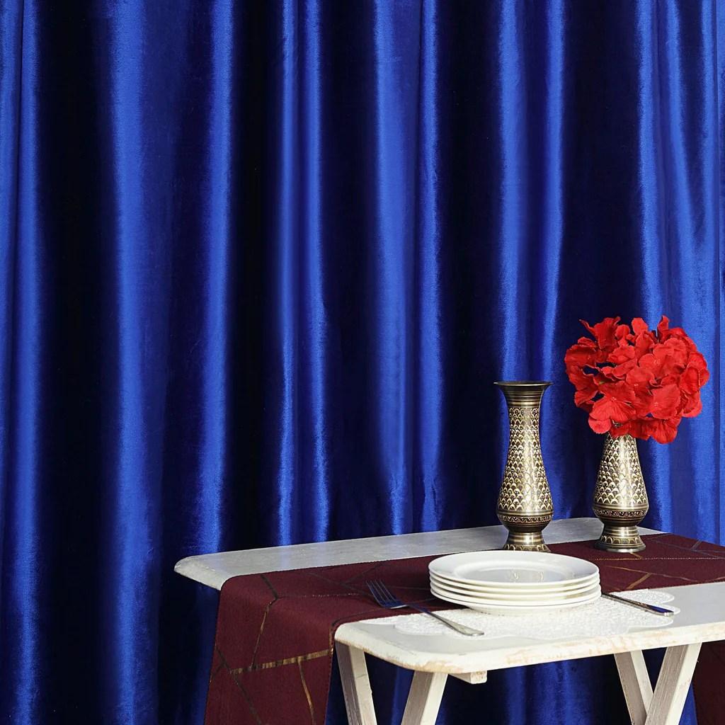 8ft h x 8ft w royal blue premium velvet backdrop curtain panel drape