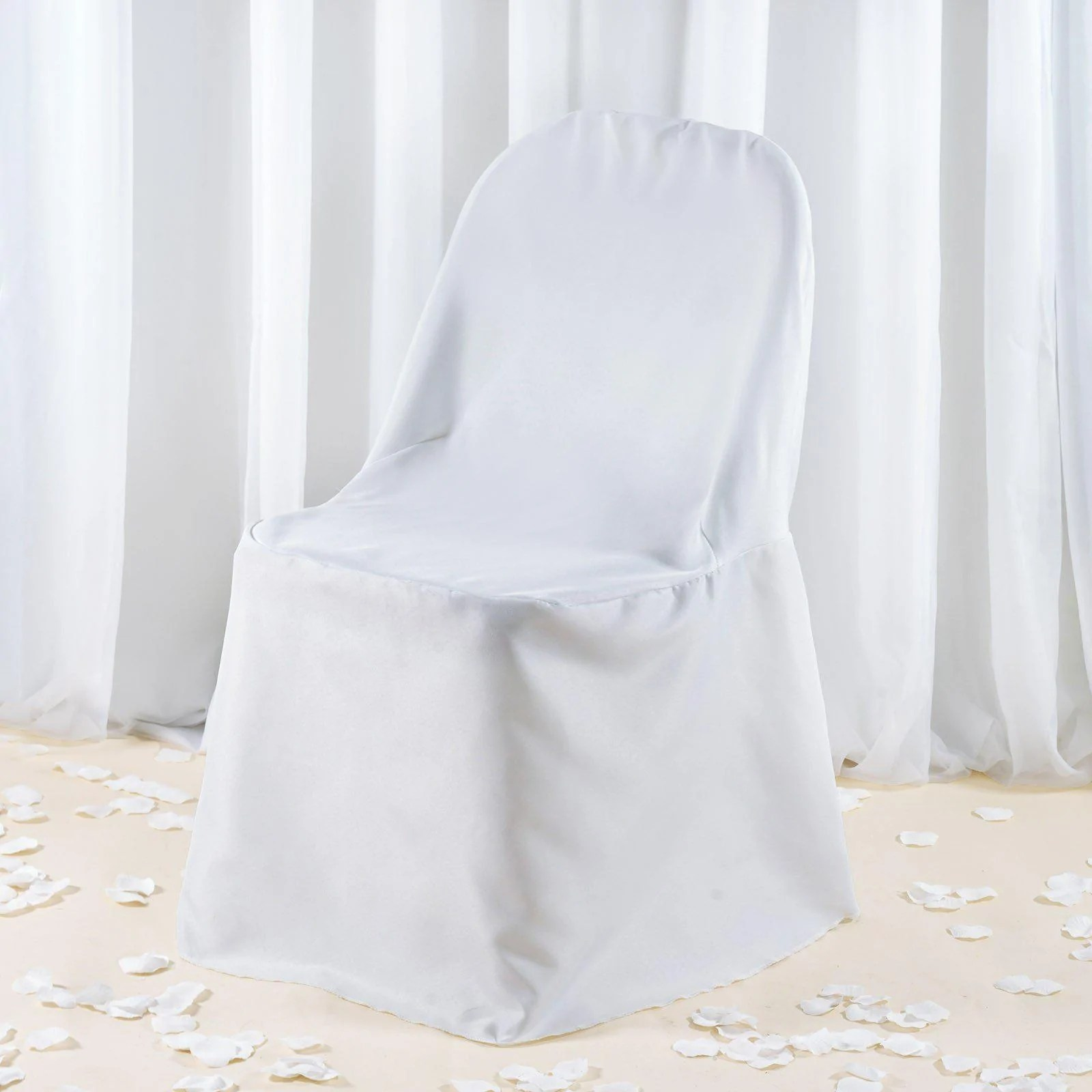 white folding chair covers revolving charge account 220 gsm premium polyester tablecloths cover
