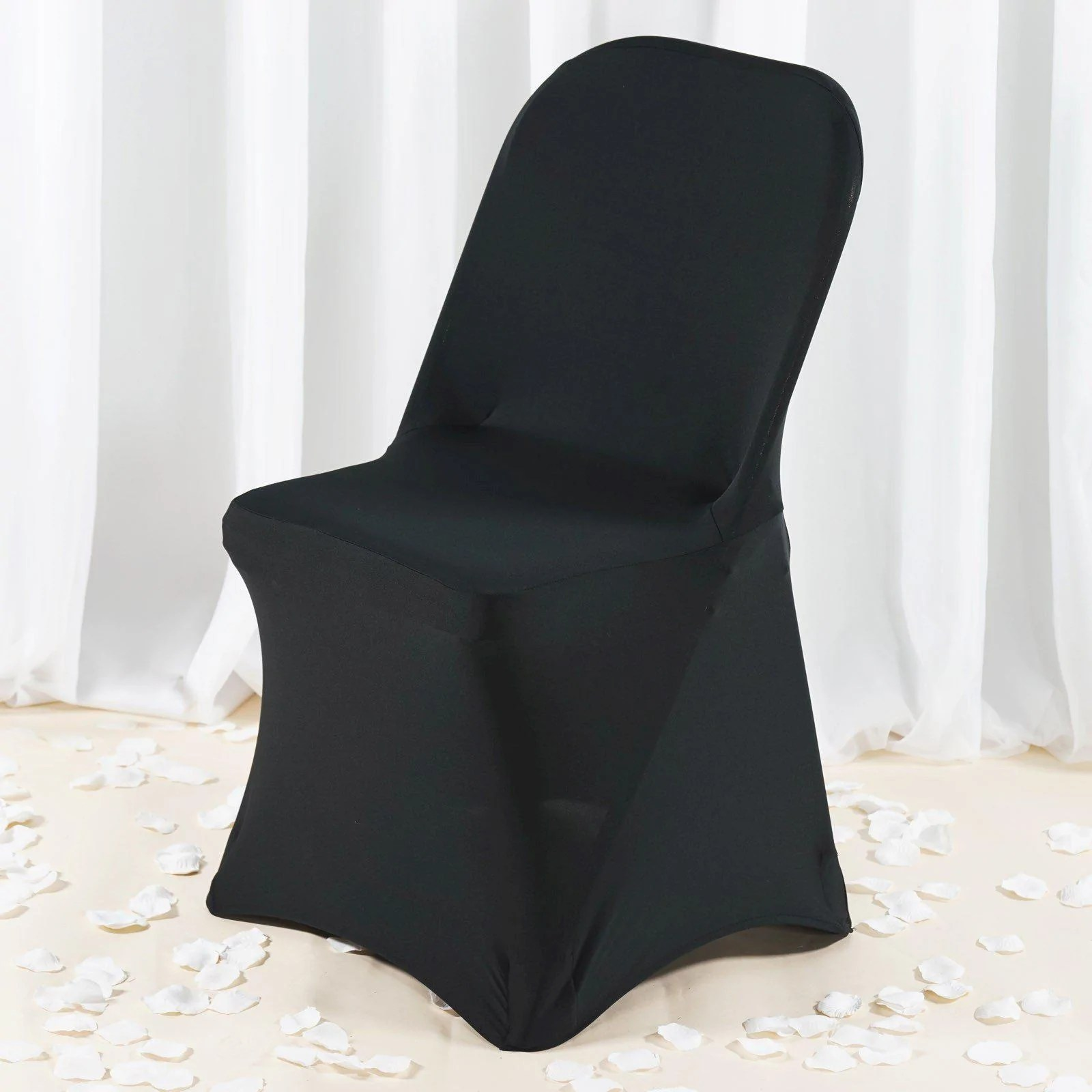 chair leg covers christmas plastic steel legs premium spandex folding cover black tablecloths