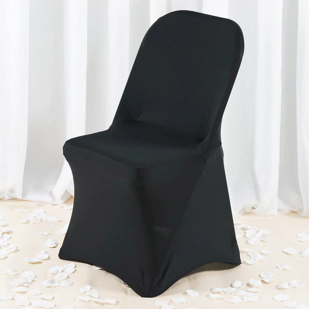 efavormart wedding chair covers desk blanket premium spandex folding cover black tablecloths