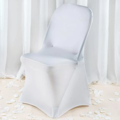 White Chair Covers Cheap Hydraulic Barber Premium Spandex Folding Cover Tablecloths