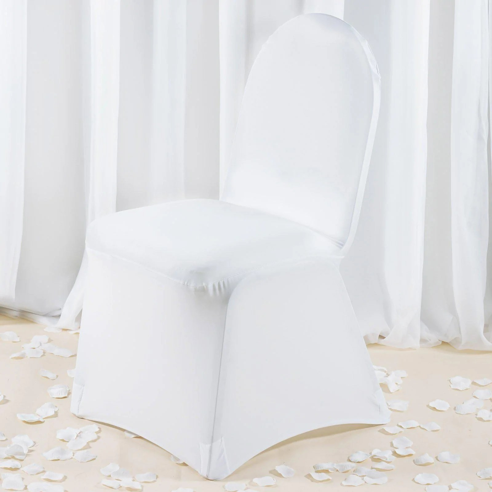 white banquet chair covers 4 table set premium spandex tablecloths factory cover