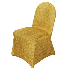 Gold Universal Chair Covers For Hire Liverpool Metallic Glittering Shiny Spandex Banquet Cover