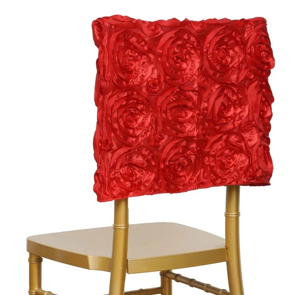 chair caps covers adirondack chairs for kids chiavari tableclothsfactory com 16 red rosette cover