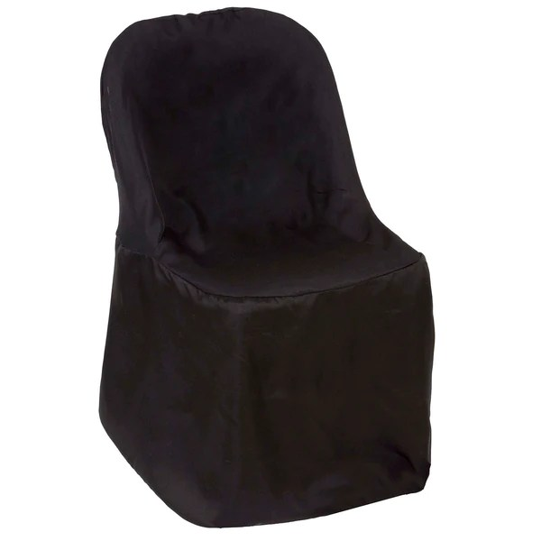 where to buy chair covers in cape town chairs with storage seat tableclothsfactory com black polyester folding flat