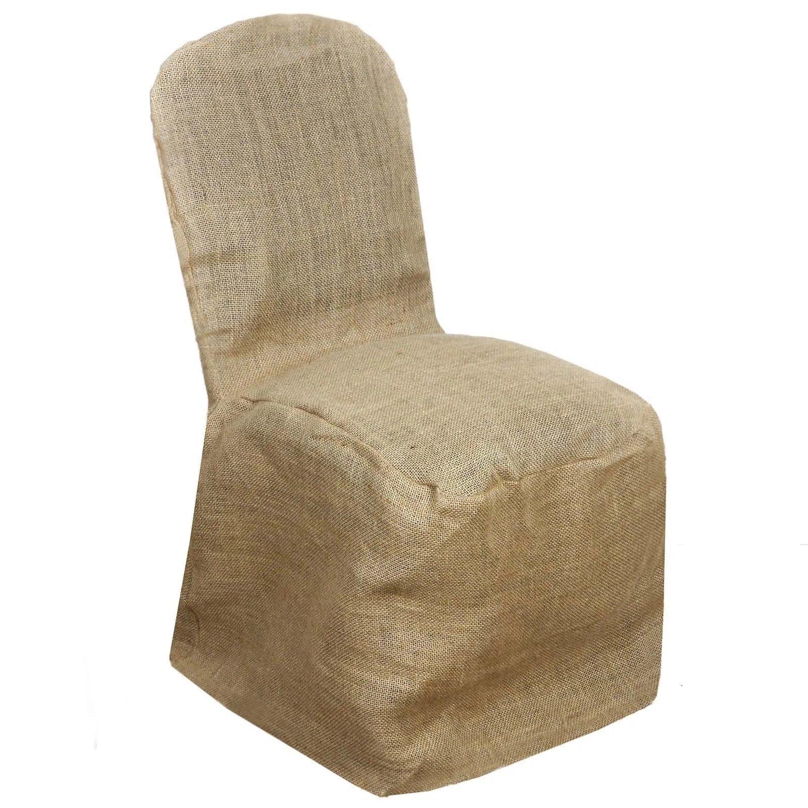 burlap chair covers for folding chairs wheelchair jevil natural jute banquet cover tablecloths factory
