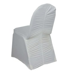 Banquet Chair Covers Malaysia Outdoor Rocking Chairs Uk Tableclothsfactory Com Ivory Premium Milan Spandex