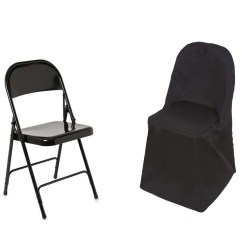 Folding Chair Round Leather Club Recliner Pottery Barn Black Polyester Covers Tablecloths Factory Fits Over Style Chairs