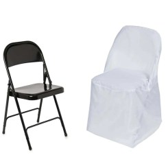 Metal Chair Covers What Is A Rolling Shower White Polyester Folding Round Tablecloths Factory Fits Over Style Chairs