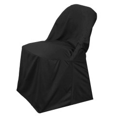 Folding Chair Covers Black White Slipcovered Dining Chairs Premium Spandex Scuba Tablecloths Stretch