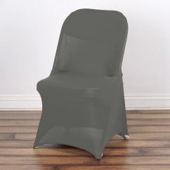 Egg Chair Cover For Sale Fire Pit Chairs Spandex Covers Tableclothsfactory Com Charcoal Grey Stretch Folding