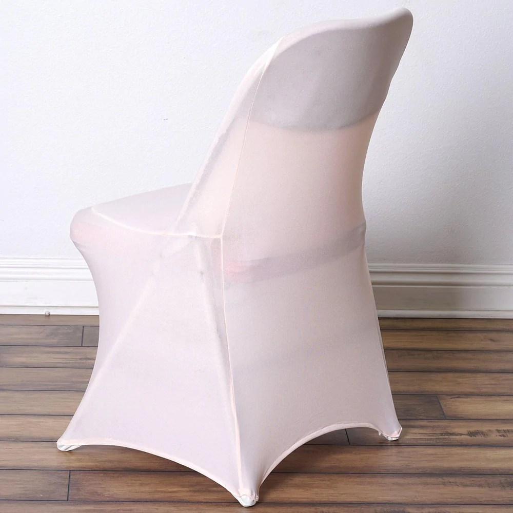 spandex chair covers for lifetime folding chairs french bergere and ottoman / - blush   tablecloths factory – tableclothsfactory.com