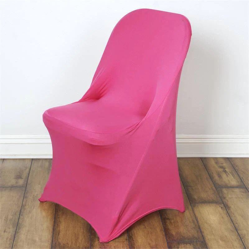 chair covers under $1 universal banquet for folding spandex fushia