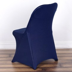 Chair Covers For Parties To Buy Modern Bentwood Chairs Wholesale Navy Spandex Stretch Folding Cover Wedding