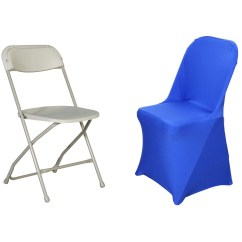 Blue Spandex Chair Covers Black Leather Desk Royal Stretch Folding Cover Tablecloths Factory Fits Over Style Chairs