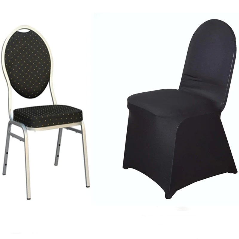 black spandex chair covers for sale silver bows premium banquet stretch cover tablecloths fits over style chairs