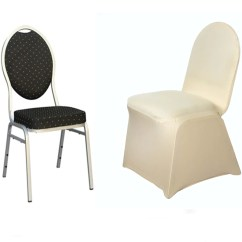 Champagne Banquet Chair Covers With Bows Attached Premium Stretch Spandex Cover Tablecloths Fits Over Style Chairs
