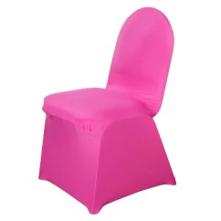 Hot Pink Spandex Chair Covers Small Side Chairs Tableclothsfactory Com Fushia Stretch Banquet Cover