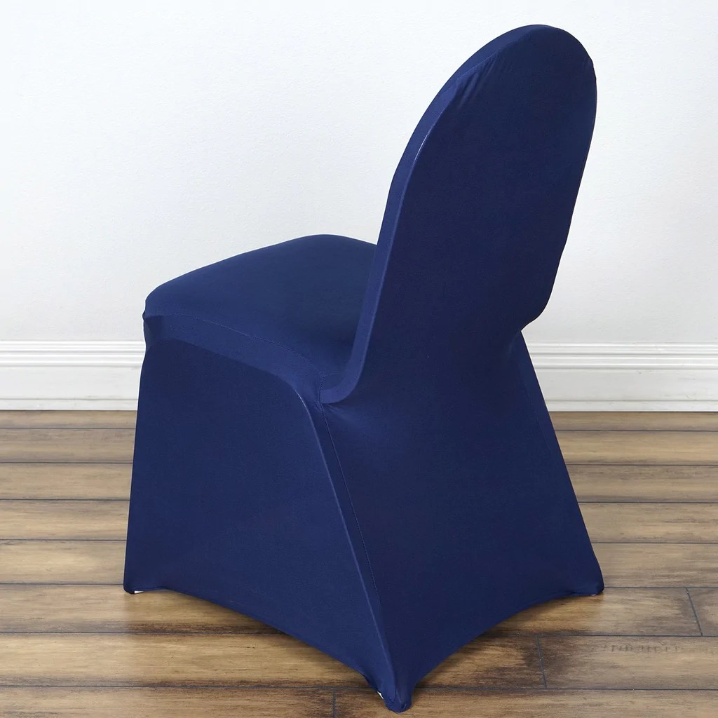 elastic chair covers for weddings swivel vanity cheap wholesale navy spandex stretch banquet cover wedding