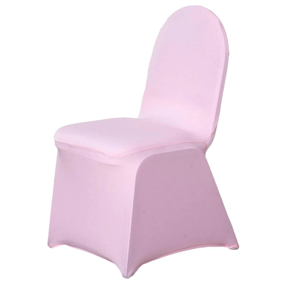 light pink spandex chair covers rolling stool premium banquet stretch cover tablecloths