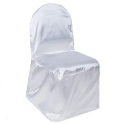 Chair Covers Bulk Buy Short High Tableclothsfactory Com White Satin Banquet