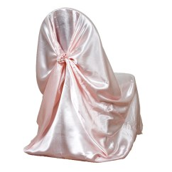 Chair Covers Rose Gold Green Upholstered Blush Universal Satin Cover Tablecloths Factory