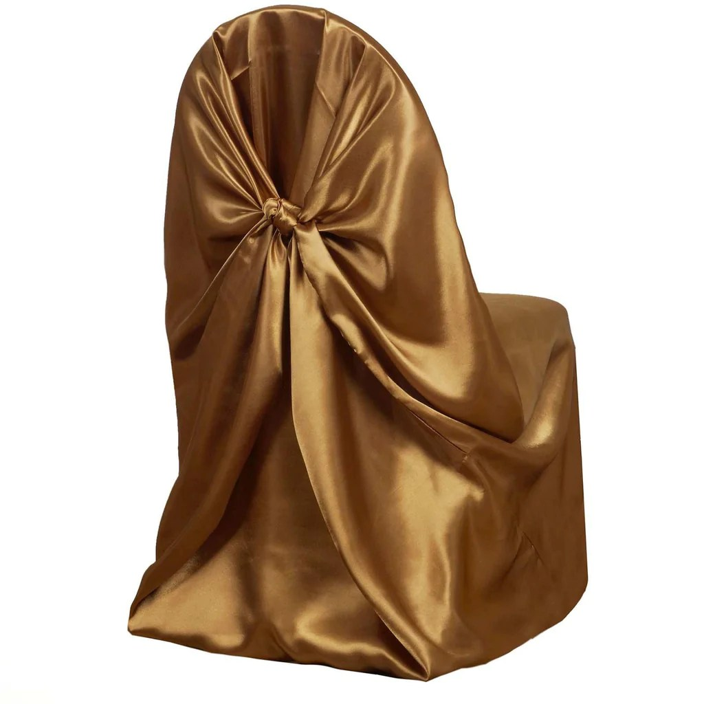 gold polyester chair covers height toilets universal satin cover tablecloths factory