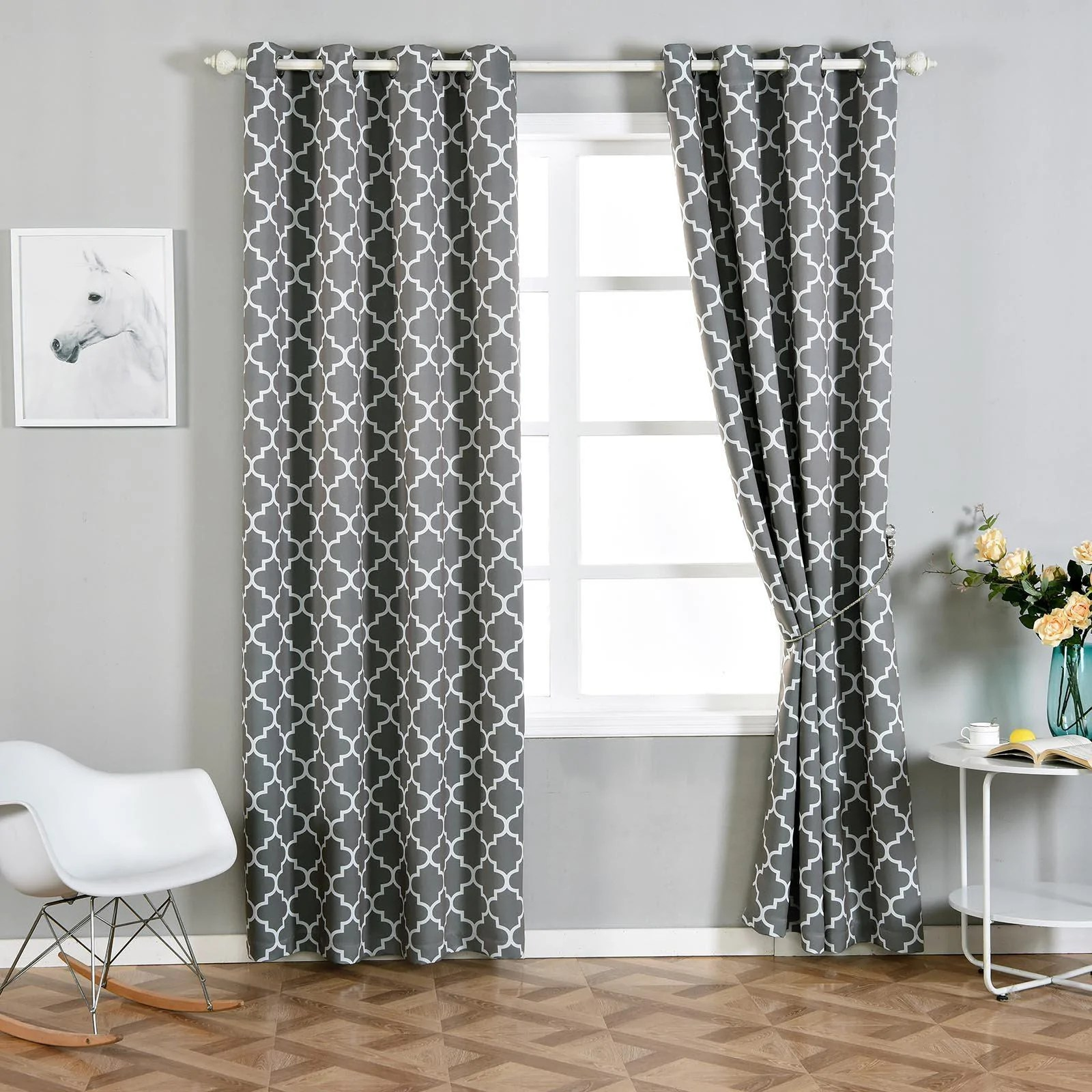 Curtain Panels Thermal Print Pictures
