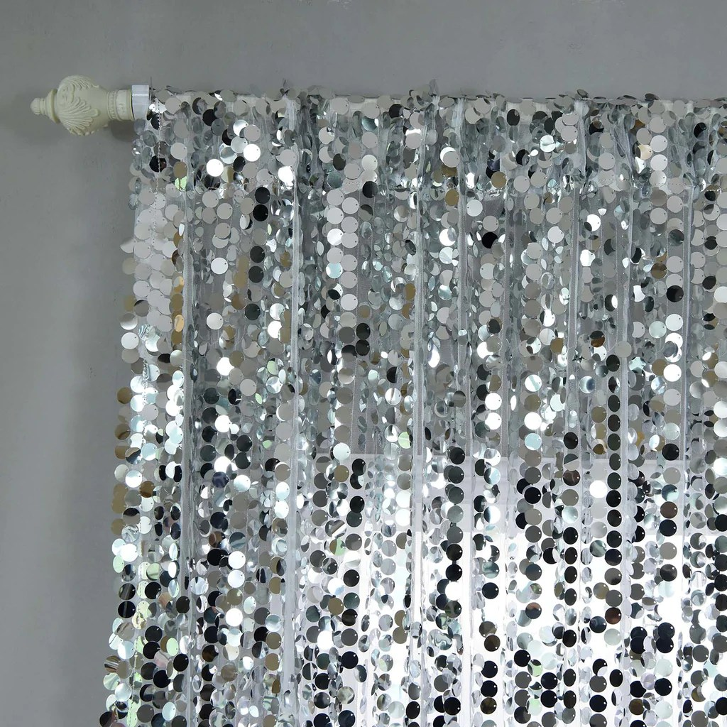 folding chair sashes reclining rocking nursery big payette sequin curtains 52x108