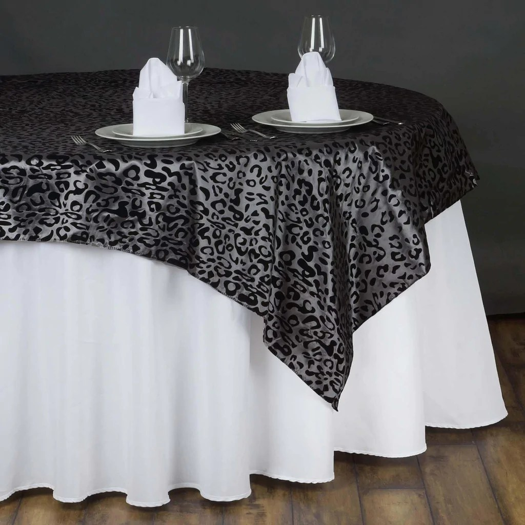 giraffe print chair sashes wicker saucer 90 quotx90 quot taffeta overlay leopard cheetah animal for