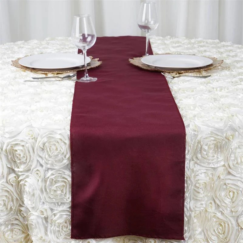 12x108 burgundy polyester table