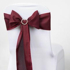 Burgundy Chair Covers Wedding Sparco Office 5 Pcs Polyester Sashes Tie Bows Catering