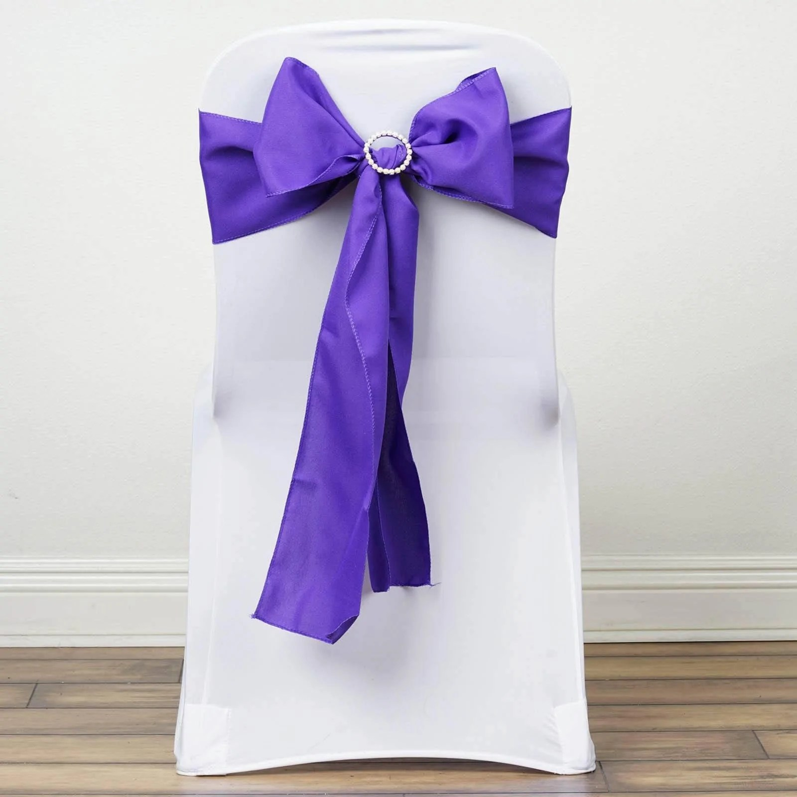 purple chair sashes for weddings sleeper sofa and a half 5 pcs polyester tie bows catering wedding party decorations 6x108