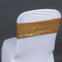 Yellow Spandex Chair Sashes Wheelchair Washer Tableclothsfactory Com 5 Pack 6 X14 Gold Sequin Sash