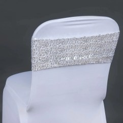 Cheap Chair Covers And Sashes Peg Perego Prima Pappa High Zero3 5pc X Spandex Sequined Sash Silver Tablecloths