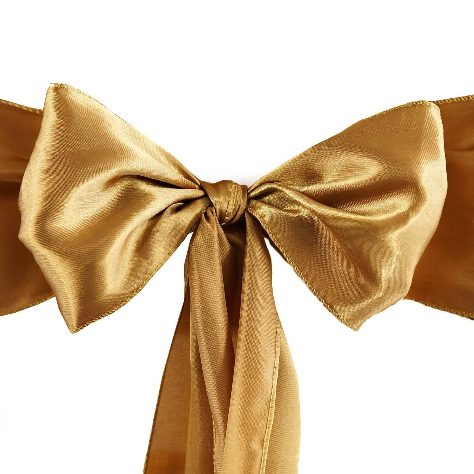 bulk satin chair covers most comfortable folding 5 pack 6 x106 gold sash tablecloths factory 5pcs sashes tie bows catering wedding party decorations 6x106