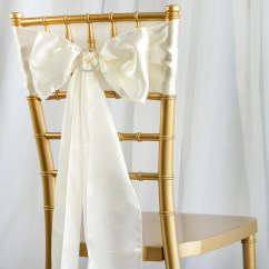 Party Chair Covers Walmart Chaise Lounge 5pcs Ivory Satin Sashes Tablecloths Factory