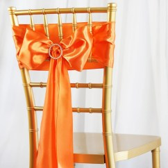Coral Sashes For Wedding Chairs Straight Back Chair 5pcs Orange Satin Tablecloths Factory