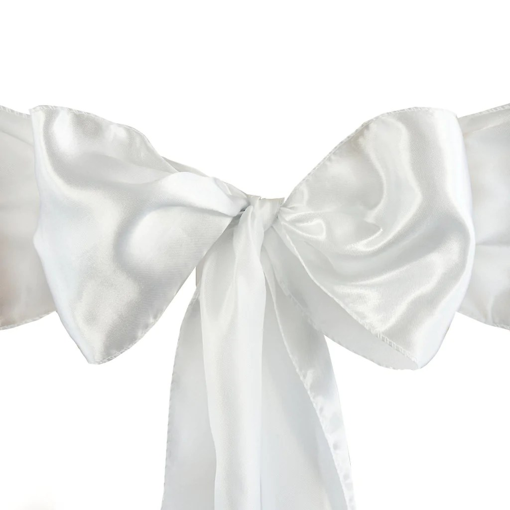 white chair sashes swing outdoor 5pcs satin tablecloths factory
