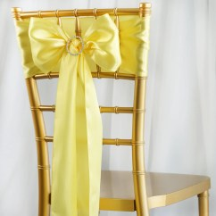 Party Chair Covers Walmart Best Ergonomic Desk Chairs 2017 5pcs Yellow Satin Sashes Tablecloths Factory