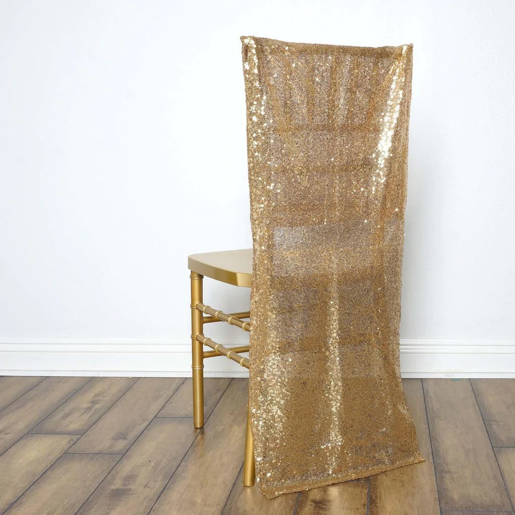 gold polyester chair covers dish target duchess sequin slipcover tablecloths
