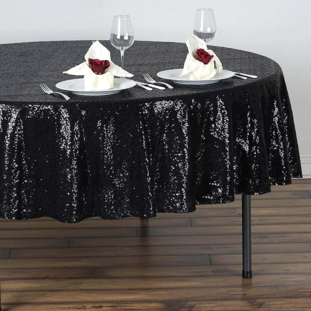 "90"" Premium Sequin Tablecloth Wedding"