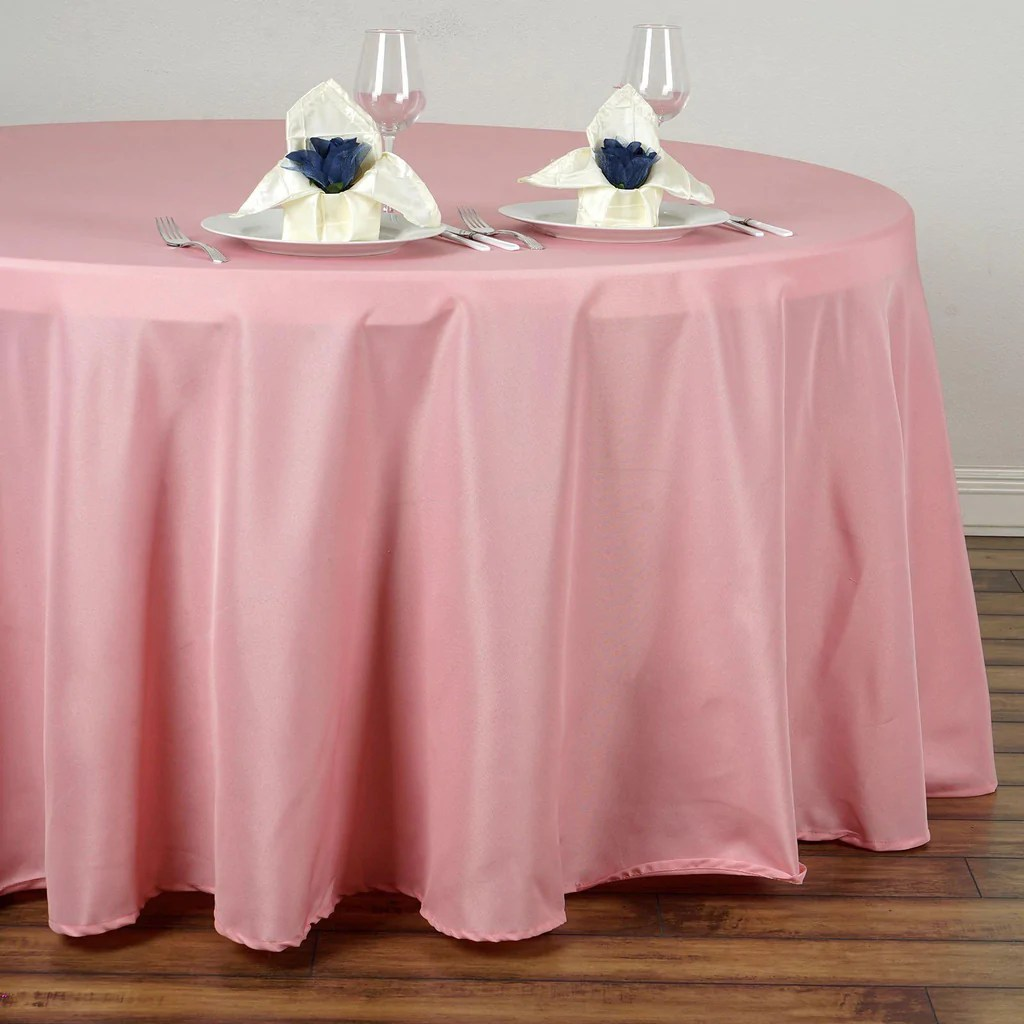 chair covers and table linens wholesale tiffany blue for sale 120 quot rose quartz polyester round tablecloth