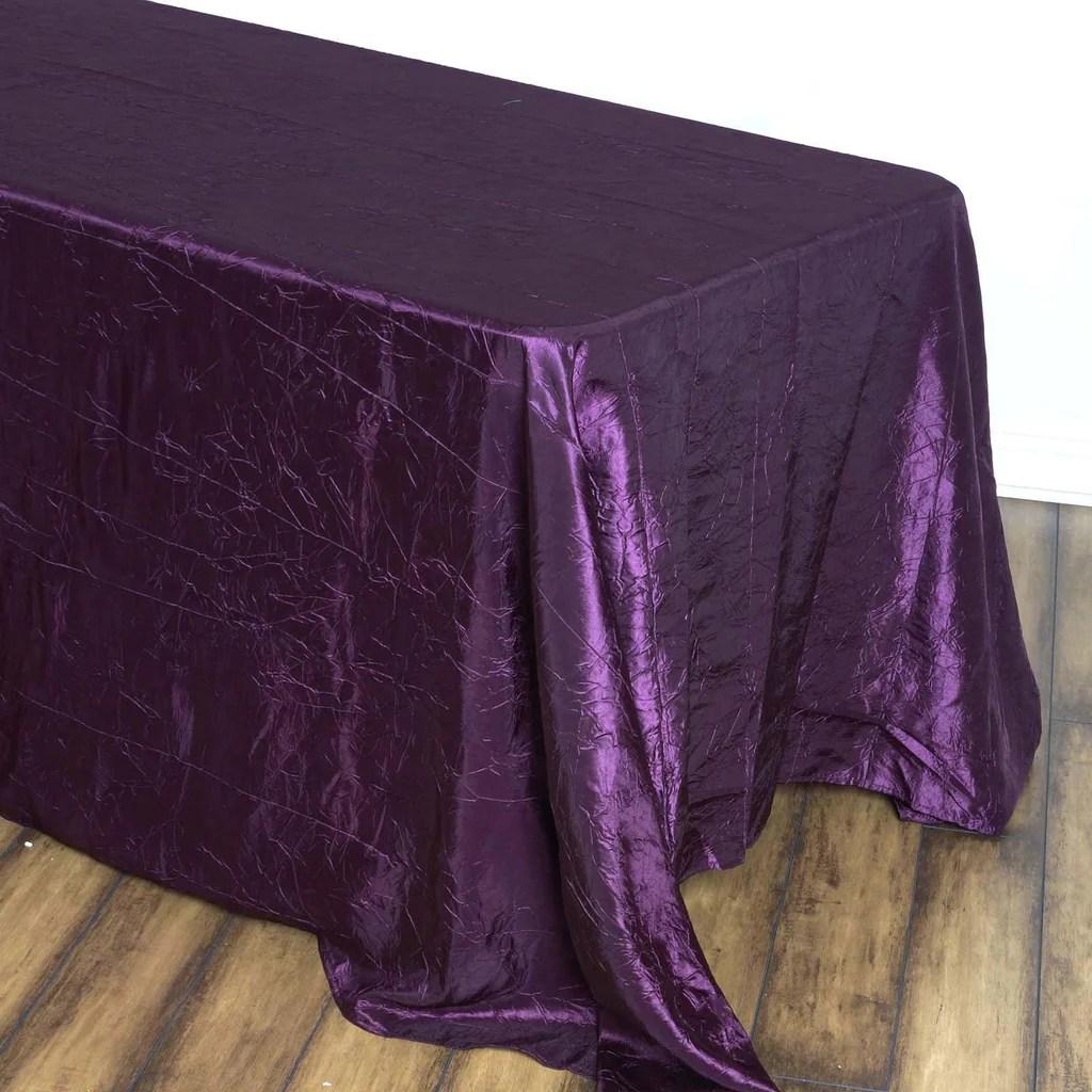 Eggplant 90x156 Crinkle Taffeta Tablecloth  Tablecloths
