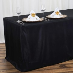 Wholesale Wedding Chair Covers Office Desk Chairs 4ft Fitted Black Polyester Table Cover Banquet Event Tablecloth | Tablecloths ...