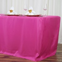 8FT Fitted FUSHIA Wholesale Polyester Table Cover Wedding ...